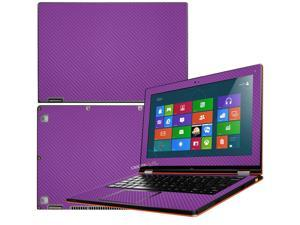 """Decalrus  - Lenovo Ideapad Yoga 13 (1st Generation)  with 13.3"""" screen Full Body PURPLE Texture Carbon Fiber skin skins decal for case cover wrap CF13yoga13Purple"""
