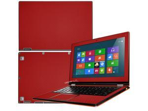 """Decalrus  - Lenovo Ideapad Yoga 13 (1st Generation)  with 13.3"""" screen Full Body RED Texture Carbon Fiber skin skins decal for case cover wrap CF13yoga13Red"""