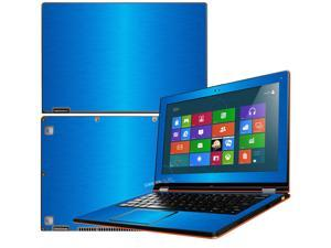 """Decalrus  - Lenovo Ideapad Yoga 13 (1st Generation)  with 13.3"""" screen Full Body LITE BLUE Texture Brushed Aluminum skin skins decal for case cover wrap BA13yoga13LiteBlue"""