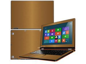 """Decalrus  - Lenovo Ideapad Yoga 13 (1st Generation)  with 13.3"""" screen Full Body GOLD Texture Brushed Aluminum skin skins decal for case cover wrap BA13yoga13Gold"""