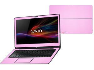 """Decalrus  - Sony Vaio Fit 14A Flip """"FLIP"""" with 14"""" TOUCHScreen screen Full Body PINK Texture Carbon Fiber skin skins decal for case cover wrap CFVaioFlip14APink"""
