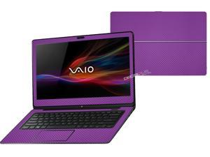"""Decalrus  - Sony Vaio Fit 14A Flip """"FLIP"""" with 14"""" TOUCHScreen screen Full Body PURPLE Texture Carbon Fiber skin skins decal for case cover wrap CFVaioFlip14APurple"""