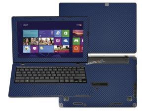 """Decalrus  - Asus Vivobook X200MA X200CA K200MA  with 11.6"""" TOUCHscreen Full Body BLUE Texture Carbon Fiber skin skins decal for case cover wrap CF13X200MABlue"""