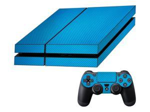 Decalrus  - Sony Playstation PS4 FULL BODY  Lite BLUE Texture Carbon Fiber skin skins decal for case cover wrap CFps4LiteBlue