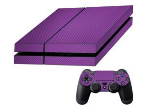 Decalrus  - Sony Playstation PS4 FULL BODY  PURPLE Texture Carbon Fiber skin skins decal for case cover wrap CFps4Purple