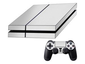 Decalrus  - Sony Playstation PS4 FULL BODY  WHITE Texture Carbon Fiber skin skins decal for case cover wrap CFps4White