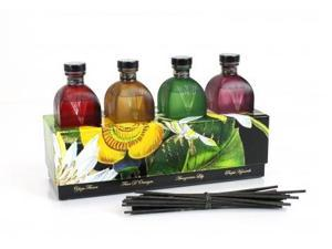 D.L. & Co Small Botanical Diffuser Set of 4 fragrances Gift Box