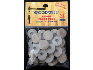 "Woodwise 7/8"" Tap-In Floor Pads - 24 Pieces"