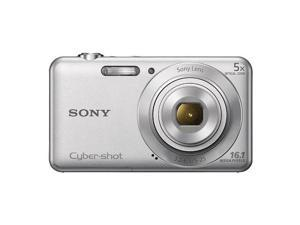 "Sony Cyber-shot DSC-W710 16.1 Megapixel Compact Camera - Silver - 2.7"" Touchscreen LCD - 5x Optical Zoom - Electronic (IS) - 4608 x 3456 Image - 1280 x 720 Video - HD Movie Mode"