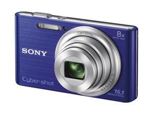 "Sony Cyber-shot DSC-W730 16.1 Megapixel Compact Camera - Blue - 2.7"" Touchscreen LCD - 8x Optical Zoom - Optical (IS) - 4608 x 3456 Image - 1280 x 720 Video - HD Movie Mode"