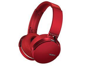 Refurbished: Sony MDR-XB950BT/R Extra Bass Bluetooth Wireless Headphones w/Microphone - Red