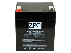 ZPC 12V 4.5Ah 12 Volt 4.5 Amp Hour Sealed Lead Acid (SLA) Battery