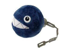 "San-ei Mario Plush Series Stuffed Toy - 5"" Chain Chomp (Japanese Import)"