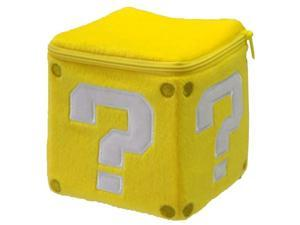 "San-ei Mario Plush Series Pouch - 4.5"" Question Mark Coin Block (Japanese Import)"