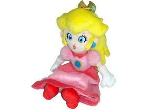 Super Mario Plush Princess Peach Soft Stuffed Plush Toy by Sanei - 8""