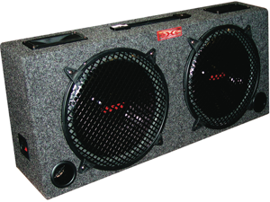 Xxx (2) Dual 10 Car Audio Subwoofer Box W/ 5 Tweeters