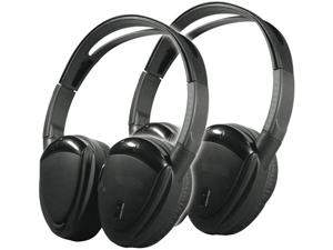 Power Acoustik HP-902RFT 2 Swivel Ear Pad 2-Channel RF 900 Mhz Wireless Headphones with Transmitter