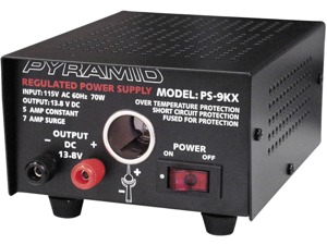 Pyramid PS9KX 5A/7A Power Supply with Cigarette Lighter Plug