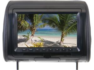 """New Power Acoustik Hdvd91cc 9"""" Widescreen Headrest W/ Dvd Player Fm Transmitter"""