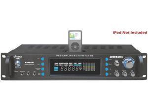 New Pyle P3002ai 3000W Professional Hybrid Receiver & Dj Pre Amplifier Ipod Dock