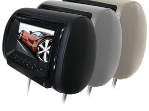 """New Boss Hir7bgtm 7"""" Widescreen Lcd Tft Monitor Headrest With Remote"""
