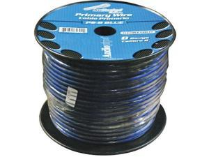 New Audiopipe Ps8bl Blue 8 Ga 250' Spool Suber Flexible Oxygen Free Cable