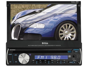 "New Boss Bv9982i Single Din 7"" Widescreen Lcd Touchscreen Monitor W/ Dvd Sd Usb"