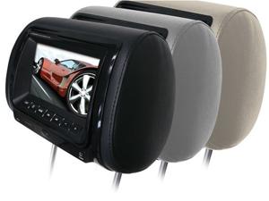 """New Boss Hir7bgta 7"""" Widescreen Monitor Headrest With Sd Usb Inputs & Dvd Player"""