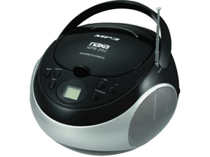 NEW NAXA NPB252BK PORTABLE MP3 CD PLAYER WITH AM AND FM