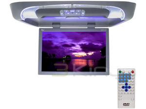 "New Tview T20dvfd Gray 20"" Lcd Overhead Monitor Dvd Player W/ Remote / Ir"