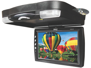 Pyle - 14.1'' Roof Mount TFT-LCD Monitor w/ Built in DVD Player