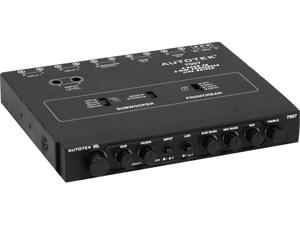 Autotek 7007 1/2 Din 4 Band Car Audio Equalizer 2 Way 9 Volt Line Driver