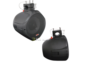 "PYLE PLMRB85 8"" 300 Watts Peak Power 2-Way Black Wake Board Speaker"