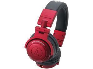 AUDIO TECHNICA ATH-PRO500MK2RD Rugged Design DJ Headphone (Red)