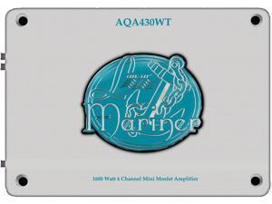 New Lanzar Aqa430wt 1800W 4 Ch Marine Mini Amplifier Amp White Finish 2 Channel