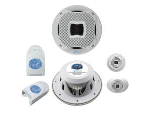 "LANZAR AQ65CMW NEW 6.5"" 400W 2-WAY MARINE COMPONENT SYSTEM WHITE COLOR - 1 PAIR"