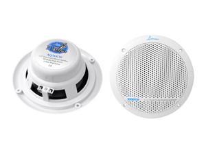 Lanzar - 300 Watts 5.25'' Dual Cone Marine Speakers (White Color)
