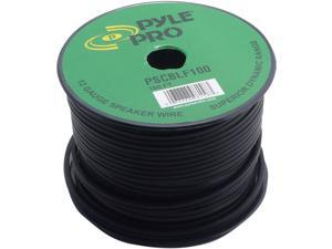 NEW PYLE PSCBLF100 12 GA SPEAKER CABLE 100' SPOOL WITH RUBBER JACKET 12 GAUGE