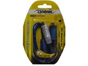 NEW XSCORPION Y2FTR 1 MALE / 2 FEMALE Y-CABLE