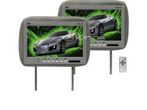 "New Pair Tview T110plgr 11.2"" Gray Car Dvd Headrest Screen Headrest Monitor"