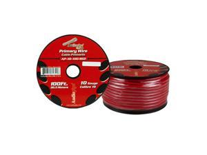 New Audiopipe Ap10100rd 10 Gauge 100Ft Primary Wire Red 10G 100 Feet