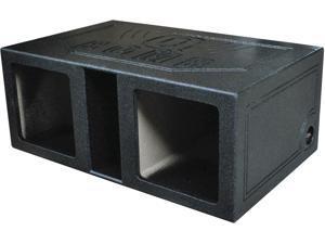 """New Q-Power Qbomb12vlsq Dual Square 12"""" Slot Ported Deep Mount Woofer Enclosure"""