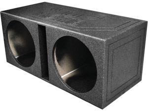 "New Q-Power Qbomb15v Empty Subwoofer Box Dual 15"" Slot Proted"