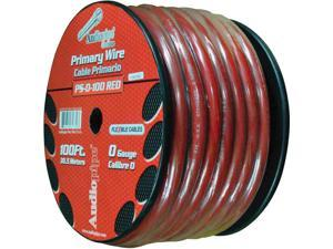 New Audiopipe Ps0100rd 0 Ga 100Ft Flexible Power Cable 0 Gauge 100 Feet Red