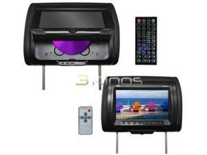 "New Pair Tview T939dvpl Black 9""  Lcd Car Headrest Dvd Player Monitors Speakers"
