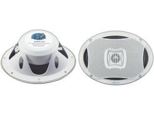 "New Pair Lanzar Aq69cxw White 500W 6X9"" 2 Way Marine Speakers"