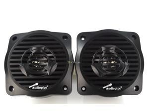 "New Pair Audiopipe Apsw4032bk 4"" 2-Way Marine Speaker 100W Max Black Speakers"