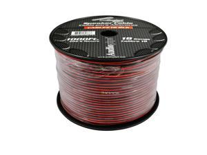 New Audiopipe Cable18black 18 Gauge Black Red 1000 Ft 18 Awg Speaker Cable