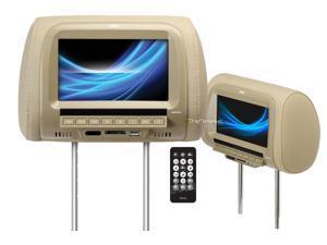 "BOSS AUDIO HIR7UTA 7"" Headrest with USB & SD(TM) Card Ports (Tan)"