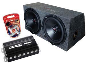 "New Audiopipe Apsb-1250 Dual 12"" Subwoofer Enclosure Box 1000W Amp Apsb1250"